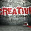 Graffiti wall with creative, street background — Stock Photo #18649709