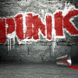 Graffiti wall with punk, street background — Stock Photo #18649973