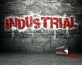 Graffiti wall with industrial, street background — Stock Photo