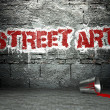 Graffiti wall with street art, backdrop — Stock Photo #18650055