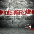Graffiti wall with underground, street background — Stock Photo #18656291