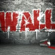 Graffiti wall art, street background — Stock Photo