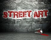 Graffiti wall with street art, backdrop — Stock Photo
