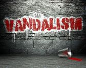 Graffiti wall with vandalism, street background — Stock Photo