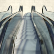 Modern office building and escalator stairs — Stock Photo