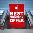 Stock Photo: Best summer offer advertising flag and escalator
