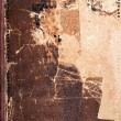 Old book cover texture, brown leather and paper - Stock Photo
