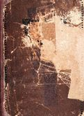 Old book cover texture, brown leather and paper — Stock Photo