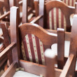 Royalty-Free Stock Photo: Stacked wooden classic chairs