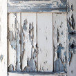 Peeling Paint on old wooden door, texture — Stock Photo