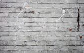 Old dirty white brick wall texture — Stock Photo