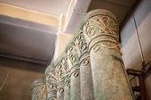 Artificial stone columns, decoration in theater — Stock Photo