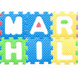 Colored letters, Smart child motto for children — Stock Photo #24004753
