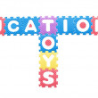 Colored letters, Educational toys for children — Stok fotoğraf
