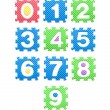 Colored numbers for children, kid's puzzles — Stock Photo