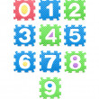 Colored numbers for children, kid's puzzles — Stock Photo #24008655