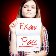 Stockfoto: Passed test or exam and proud girl