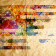 Stock Photo: Watercolor USflag, old paper background