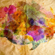 Stock Photo: Watercolor speech bubble, old paper background