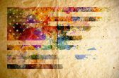 Watercolor USA flag, old paper background — Stock Photo