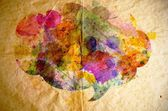 Watercolor speech bubble, old paper background — Stock Photo