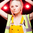 Young architect woman construction worker, safety helmet — Stock Photo #25206485