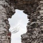 Medieval stone castle ruins window — Stock Photo #25296799