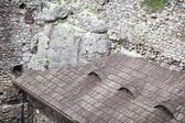 Medieval stone castle ruins, illustration — Stock Photo