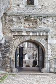 Medieval stone castle gate, illustration — Stock Photo
