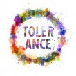 Tolerance concept, watercolor splashes as a sign — Stock Photo