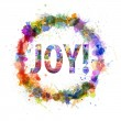 Joy concept, watercolor splashes as a sign — Stock Photo #26077171