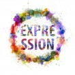Expression concept, watercolor splashes as a sign — Foto de Stock