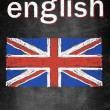 School concept of learning english language, flag United Kingdom — Stock Photo