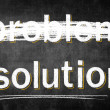 Solution problem on chalk board, conceptual sketch — Stock Photo
