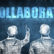 Stock Photo: Two successful businessmshowing collaborate, business concept
