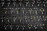 Idea light bulb seamless texture background — Stock Photo