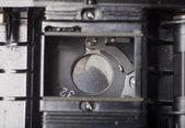 Old retro camera shutter close up — Stock Photo