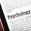 Psychology on tablet screen, ebook concept — Stock Photo