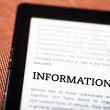 Information on ebook, tablet concept — Stock Photo