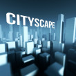 Cityscape in 3d model of city downtown, Architectural creative concept — Stock Photo #33280821
