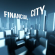 Financial city in 3d model of downtown, Architectural creative concept — Stock Photo