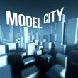 Model city in 3d downtown, Architectural creative concept — Stock Photo #33280887