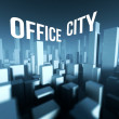 Office city in 3d model of downtown, Architectural creative concept — Stock Photo #33280939