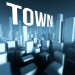 Town in 3d model of city downtown, Architectural creative concept — Stock Photo #33281003