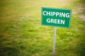 Chipping green sign, the golf course — Foto de Stock