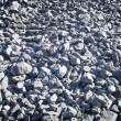 Rubble stones or black coal lumps — Stock Photo