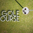 Golf course design background photography and typography — Stock Photo