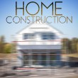 Stock Photo: Home construction design background photography and typography
