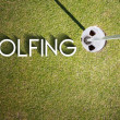 Stock Photo: Golfing design background photography and typography