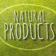 Natural products poster illustration of eco-friendly business — Stock Photo